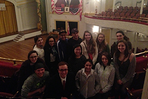 Leadership students at Ford's Theatre.