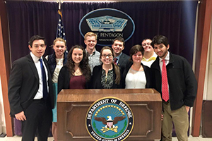 Leadership students at the Pentagon