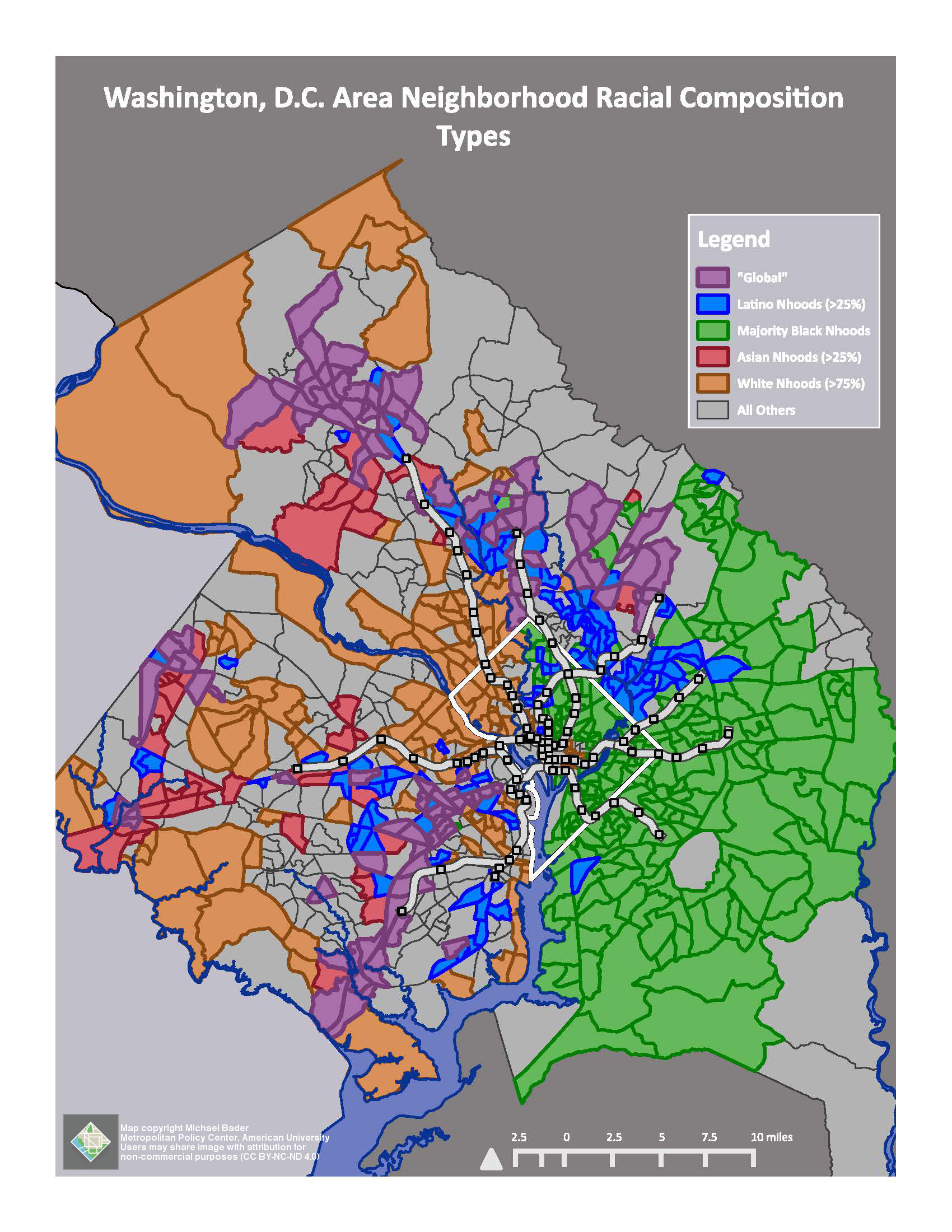 DC Area Survey Metropolitan Policy Center School Of Public - Washington dc area map pdf