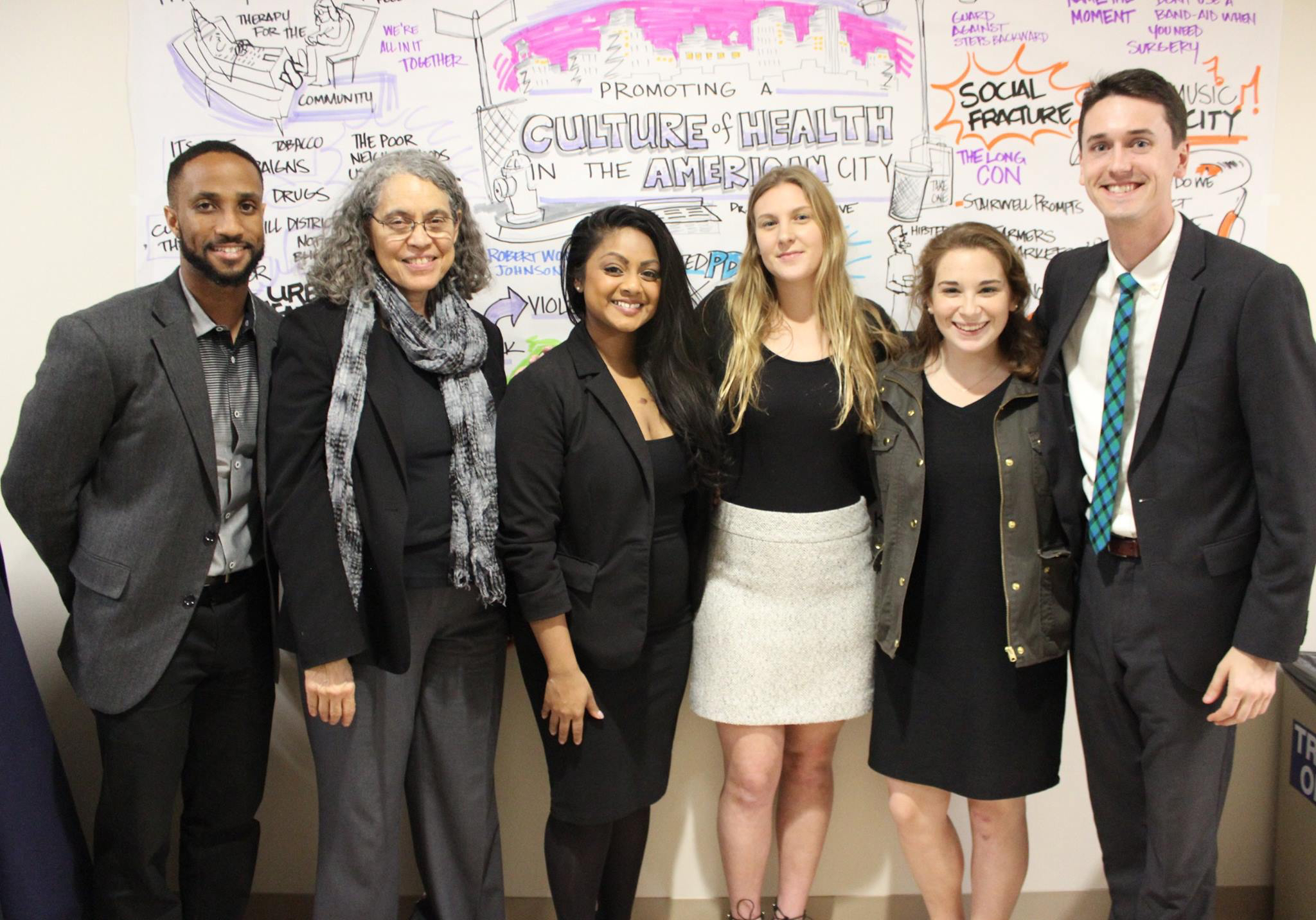 Photo of Dr. Mindy Fullilove and MPC staff