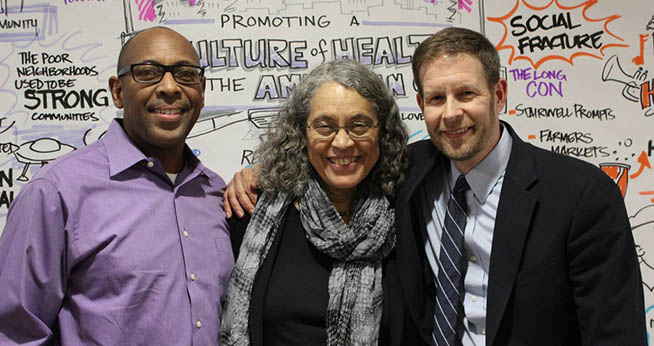 Left to right: Dominic Moulden, Mindy Fullilove, and Derek Hyra