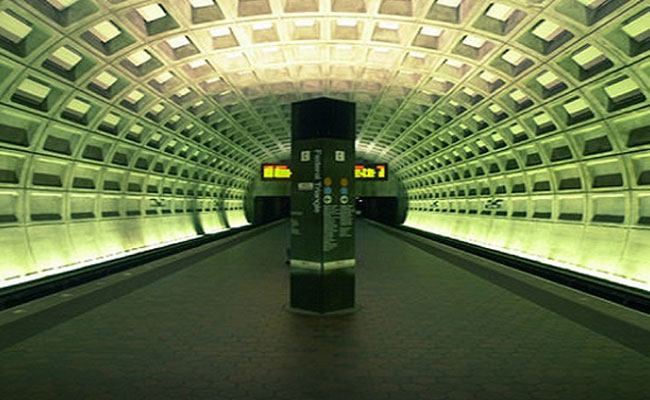 Interior view of DC Metrorail