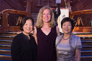 Cowell-Meyers with Senator Mazie Hirono, left, and Anna Lo, Member of the Legislative Assembly for Belfast South