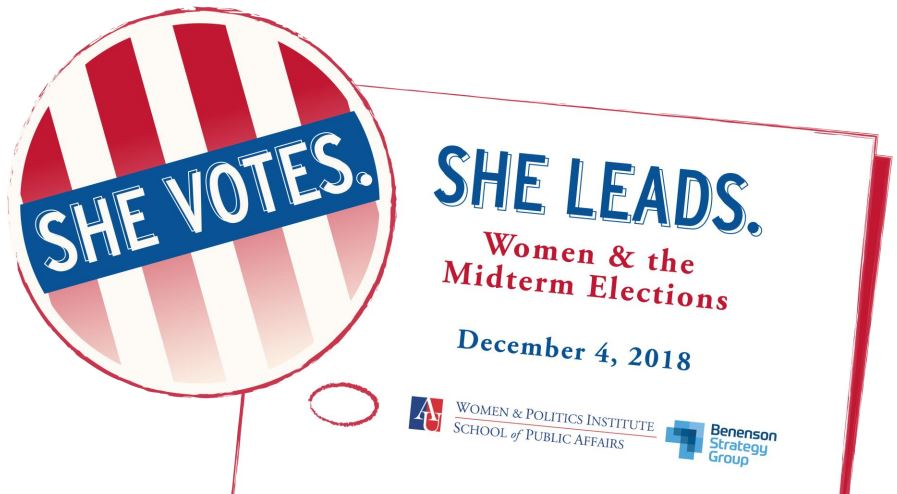 She Votes. She Leads. Women and the midterm elections december 4, 2018