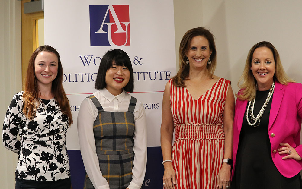 Left to right: Nicole Fossier, Li Zhou, Betsy Fischer Martin, and Amanda Hunter