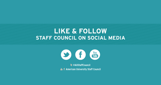 Follow or Like Staff Council on Social Media