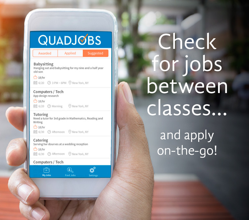 QuadJobs has an Iphone app! Find jobs easily.