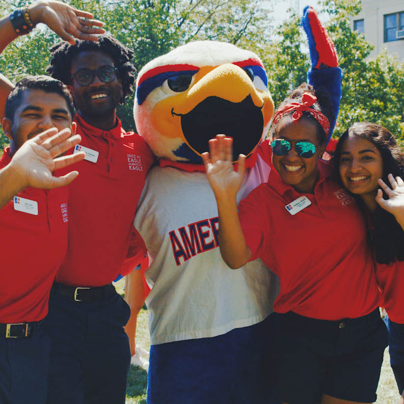 Clawed poses with eagle summit orientation leaders