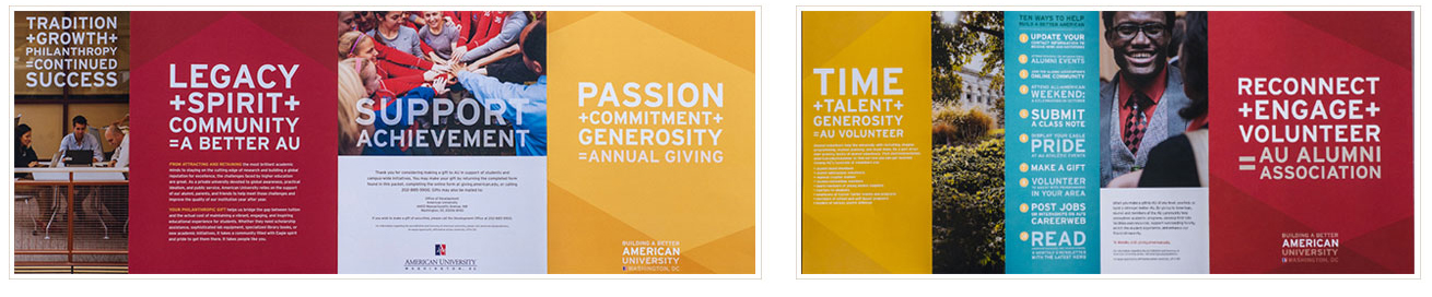 Various brochures for alumni