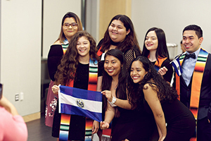 students at Latinx community graduation