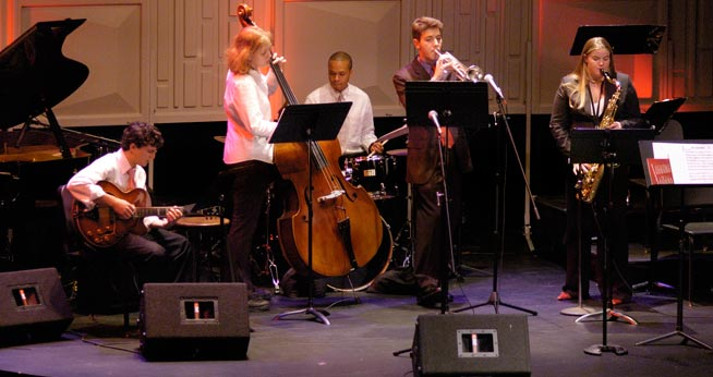 American University jazz students performing