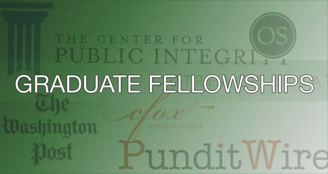 SOC offers graduate fellowships in partnership with DC's leading media organizations.