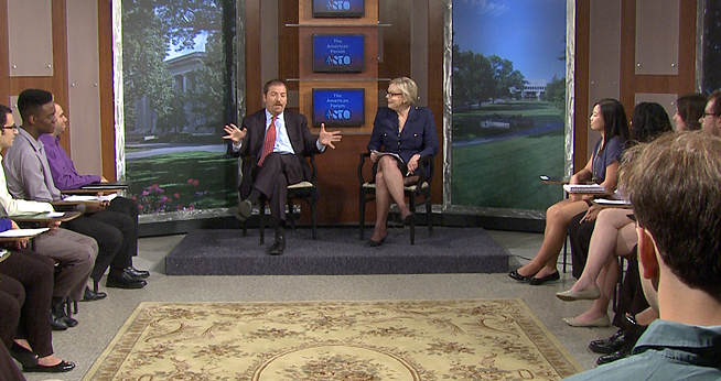 NBC's Chuck Todd was the guest at a recent American Forum, filmed for NBC4 on AU's campus.