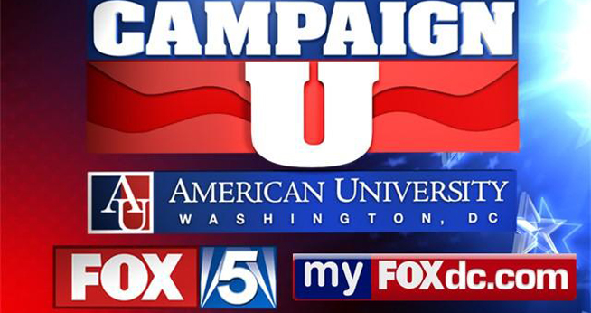 American University School of Communication is teaming with Fox 5 to showcase student analysis of the 2012 presidential election campaign