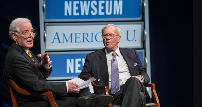 SOC Tom Brokaw and Nick Clooney Reel Journalism
