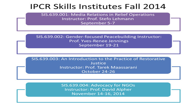 Skills Institute Fall 2014 Offerings
