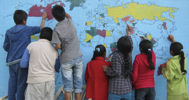 Peace Corps World Map with Kids