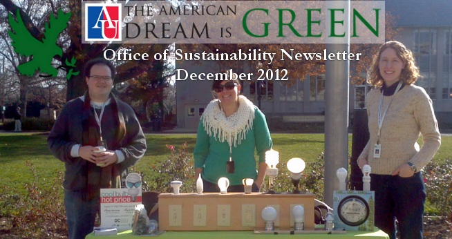 December 2012 Sustainability Newsletter