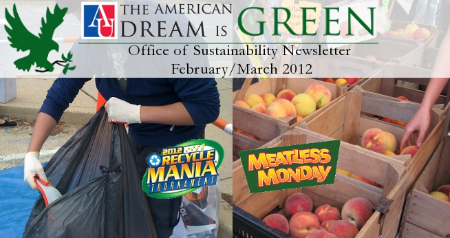 Office of Sustainability Newsletter February 2012