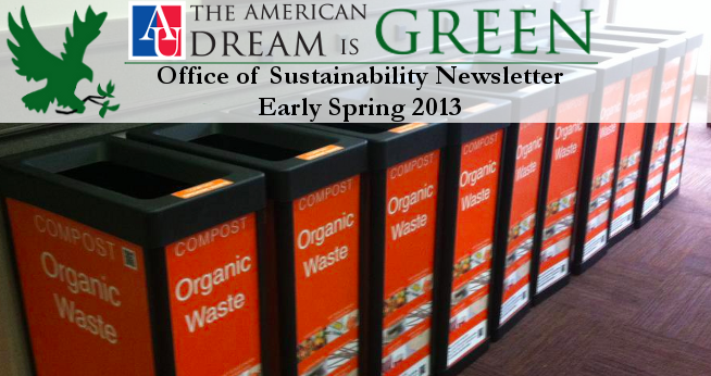 Early Spring 2013 Sustainability Newsletter