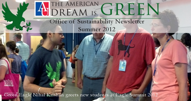 2012 Summer Sustainability Newsletter Hero