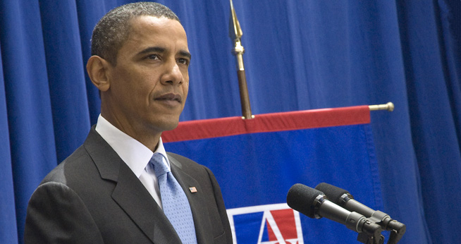 President Obama visits American University for a speech