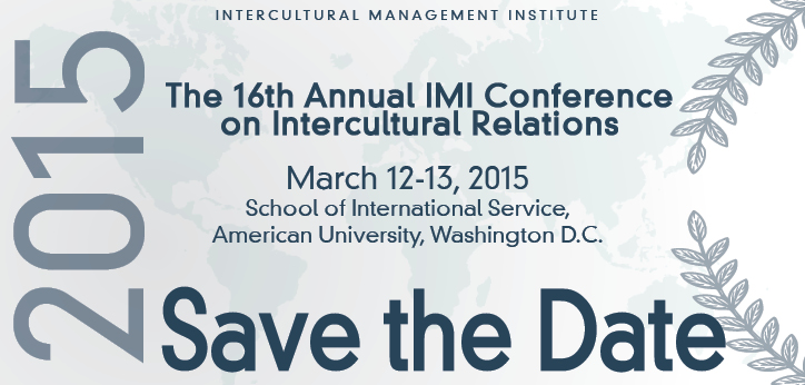 IMI announces March 12th and 13th as the dates for the 16th Annual IMI Conference on Intercultural Relations.