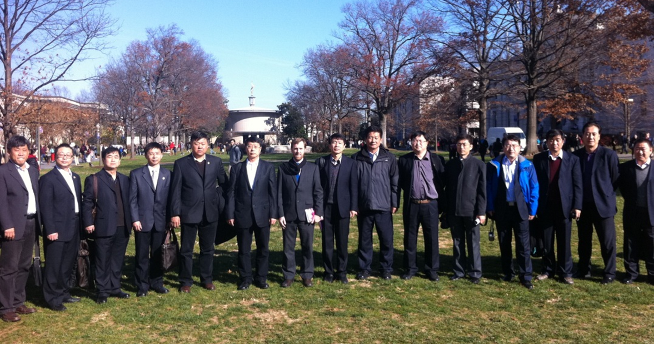 Tianjin Delegation on the Quad