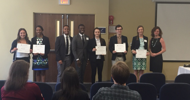 Spring 2016 Winners at the Undergraduate Research Symposium
