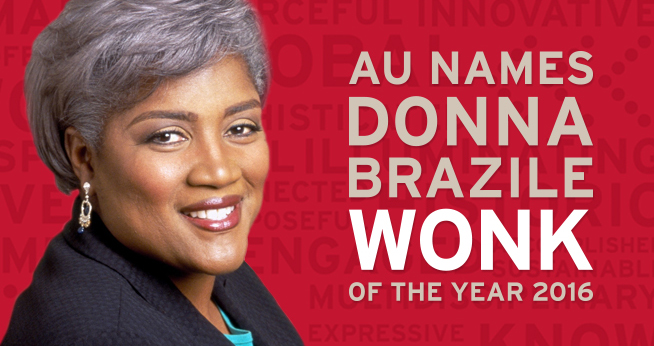 Donna Brazile headshot with text that reads