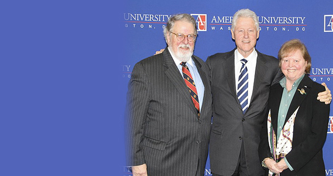 The nation's most politically active students hosted former President Bill Clinton, pictured here with SOC Exec in Residence Dotty Lynch.