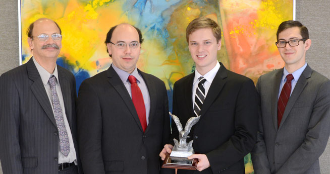 For the second year running, a team of AU economics students won the rigorous district Fed Challenge.