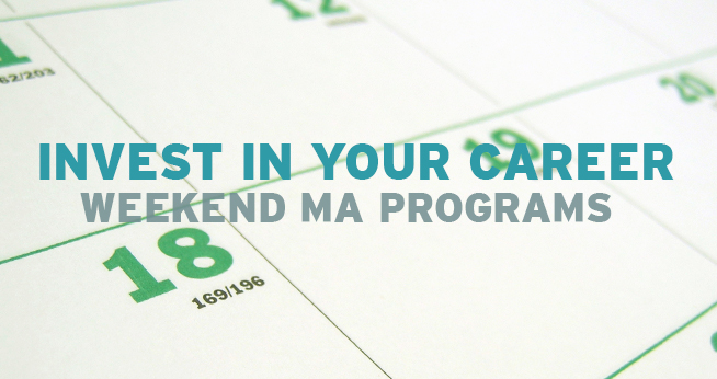 SOC Weekend MA Programs