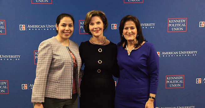 Anita McBride with Laura Bush