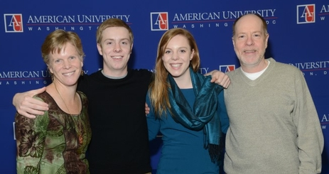 Honors Scholar and Artist Award Recipient Aubrey Rose (second from right) with her family at the 2014 Honors Awards Ceremony & Reception.
