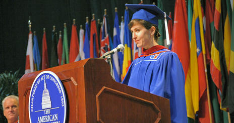 Kat Aaron received her MA in Journalism at the 2009 American University School of Communication Commencement ceremony