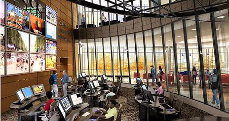 Rendering of new SOC newsroom.