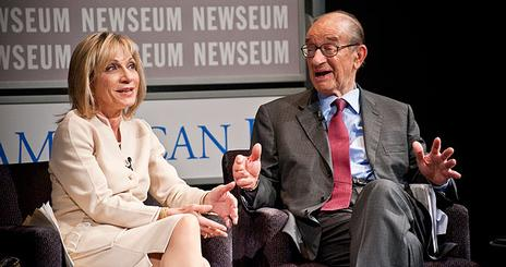 SOC Reel Journalism Andrea Mitchell and Alan Greenspan hero with blue box