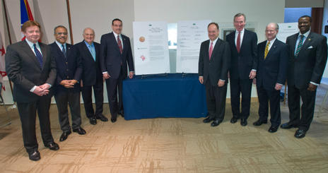 DC College and University Presidents Sign the Mayor's College and University Sustainability Pledge at American University