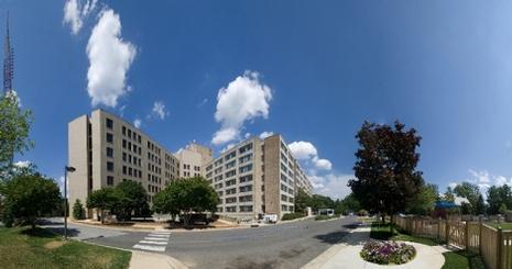 A panorama view of Centennial and Anderson Halls