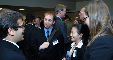 Students and alumni networking