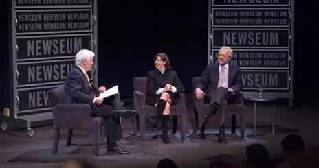 SOC alum Susan Zirinsky  joins Nick Clooney and Bob Schieffer at Newseum for Reel Journalism screening of Broadcast News