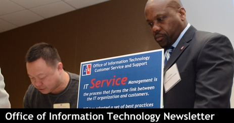 OIT Staff at Technology Expo Event