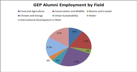 pie chart of gep alumni