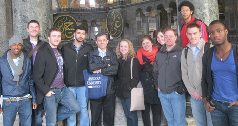Middle East & World Affairs Program participants visit Istanbul's Hagia Sophia, which features ancient Christian and Islamic art and architecture