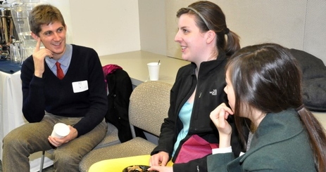 Honors Staff speaks with students