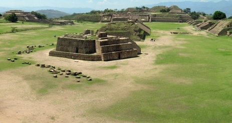 Monte Alban in Oaxaca, Mexico