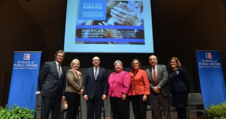 Faculty and award winners at the 2016 Roger Jones Award Ceremony
