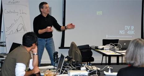 Gentile instructs on story arc.