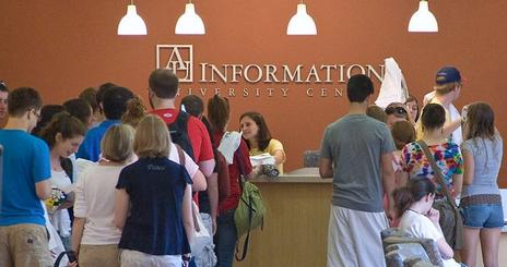 Students at Information Desk